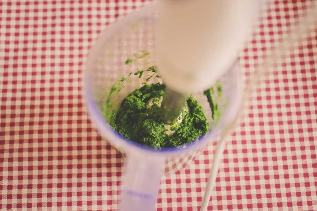 Wild garlic blending